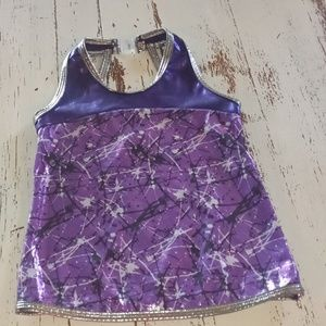 Dance workout top medium curtain call costume New
